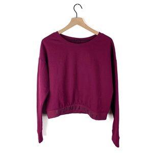 NWOT Victoria Sport Cropped Crewneck Sweatshirt